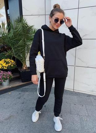 Модний ефектний спортивний костюм джогери і худі з капюшоном