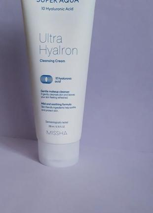 Missha super aqua ultra hyalron cleansing cream