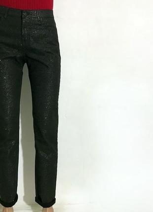 Женские блестящие стильные штаны h&m