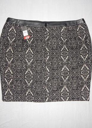 2-3xl, поб 56-60, теплая юбка карандаш с шерстью миди новая m&co