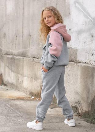 Костюм на девочку трехнитка на флисе качество люкс