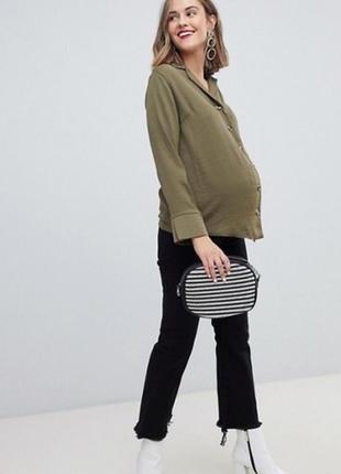 Рубашка блуза цвета жаки для беременных или большого размера 20uk