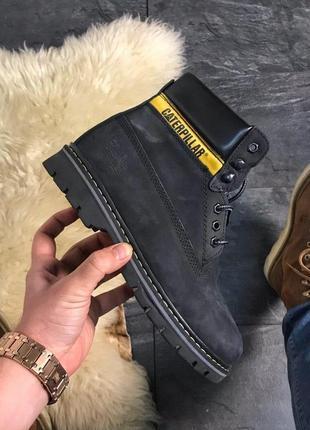 Ботинки катерпиллер чёрные мех caterpillar black fur