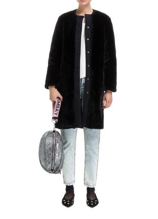 Новое пальто bimba y lola оригинал мех искусственный жакет куртка бимба тедди