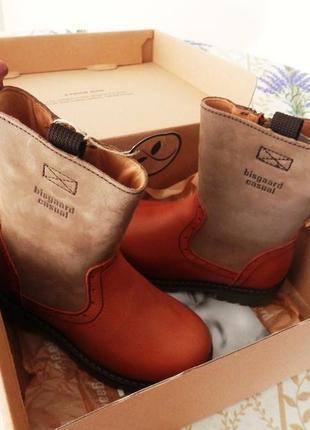Стильні зимові чоботи ботинки сапоги кожа фірма bisgaard (данія) устілка 19,5см.