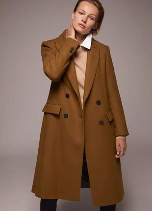 Длинное пальто из смесовой шерсти