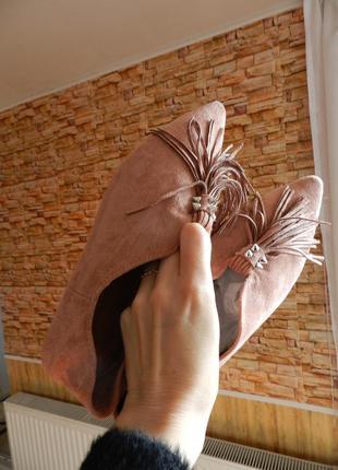 Туфли балетки эко замш лоферы мюли