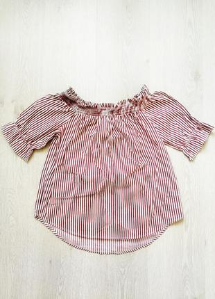 Кофта на плечи полосатая кофта майка кроп топ блуза