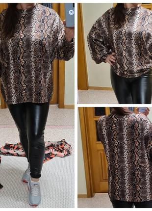 Леопардовый свитшот george оверсайз/джемпер большого размера