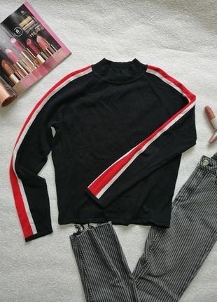 Укороченый свитшот с лампасами, свитер, кофта