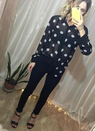 Блуза в крупный горошек amish