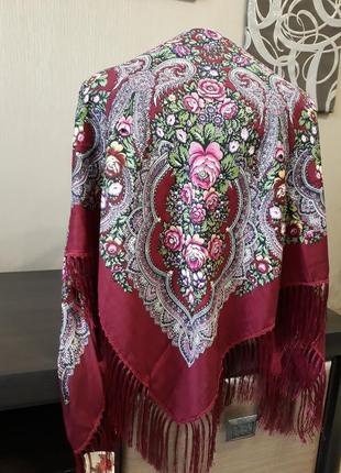 ♥️роскошные шерстяные турецкие платки народные расцветки