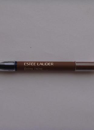 Карандаш для бровей со щеточкой estee lauder brow now 02 light brunette