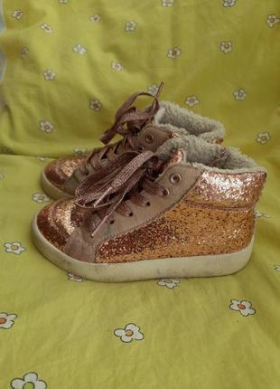 Теплые ботинки кроссовки хайтопы