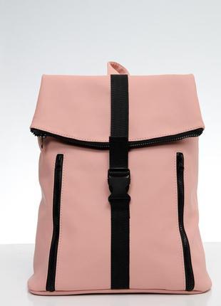 Розовый женский рюкзак для ноутбука, планшета,  документов