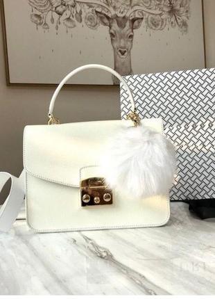 Белая сумка furla сумка фурла