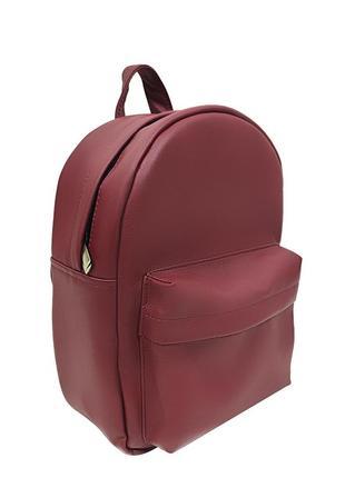 Бордовый женский классический рюкзак