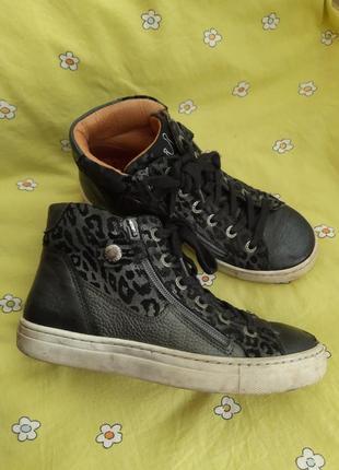 Кожаные ботинки хайтопы