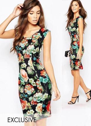 Распродажа! платье миди paper dolls с крупным ярким принтом c сайта asos