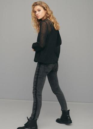 Черная блуза сетка nu denmark