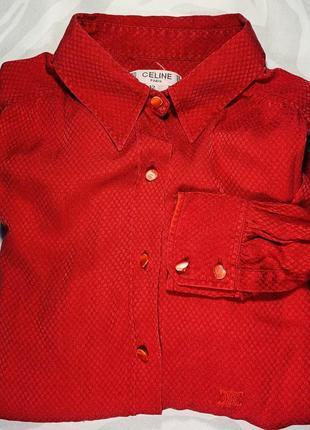 Женская шёлковая винтажная блуза celine paris