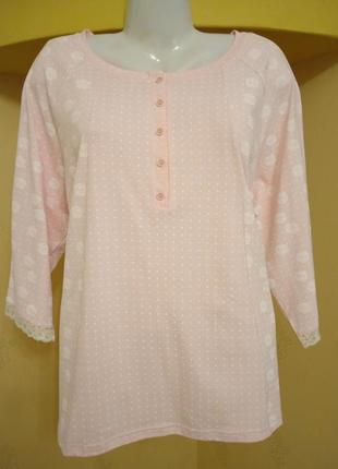 Хороший подарок. нежнейшая розовая  пижама женская ellen 3xl
