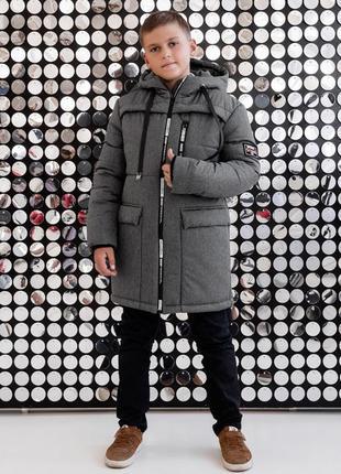 Зимняя куртка подростовкая zkm6 - 134-164 рр