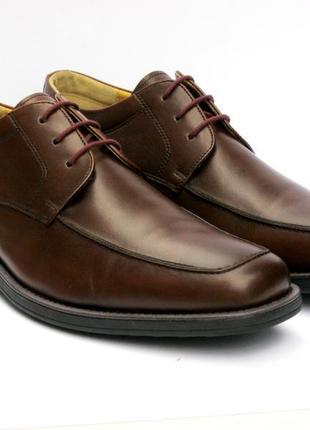 Кожаные мужские туфли steptronic azure ecco оксфорды lloyd 45-й размер