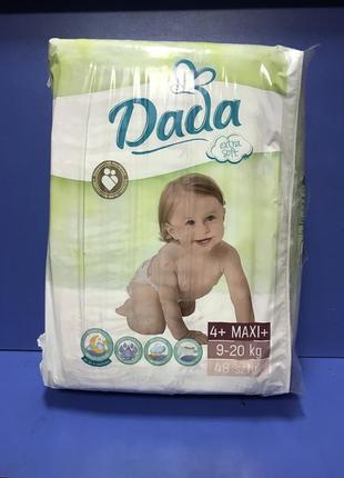Памперси dada 4+maxi+ 9-20 кг 48 штук