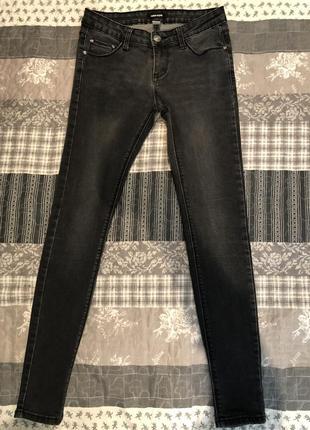 Черно-серые джинсы скини!