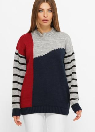 Женский длинный свитер оверсайз 223