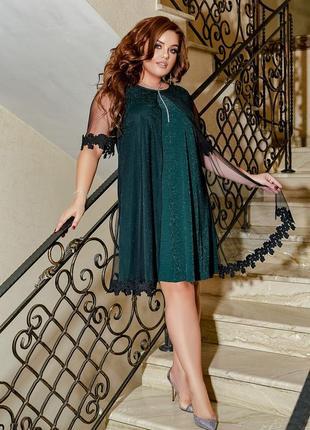 Нежное платье батал2 фото