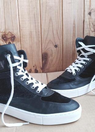 Кожаные итальянские высокие кеды ботинки northstar хайтопы сникерсы