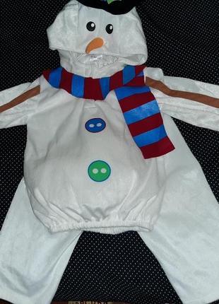 Карнавальный костюм снеговик 2-3 года.