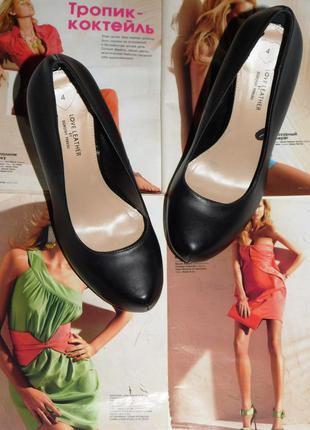 Туфли на каблуке 100% натуральная кожа