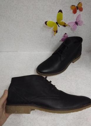 Кожаные мужские ботинки strellson (стрельсон) 46р швейцария