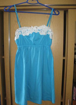 Короткое летнее платье для пляжа1