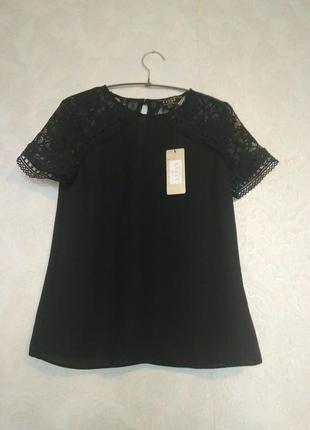 Кружевная блуза кружево бренда lipsy london,р.8