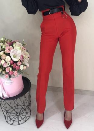Классические брюки на высокой талии