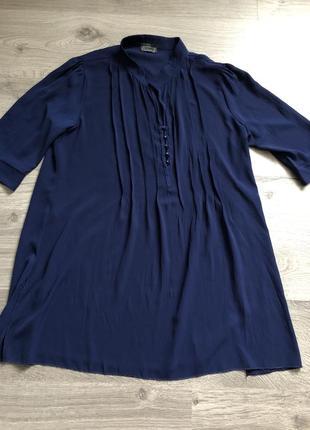 Темно синяя блуза
