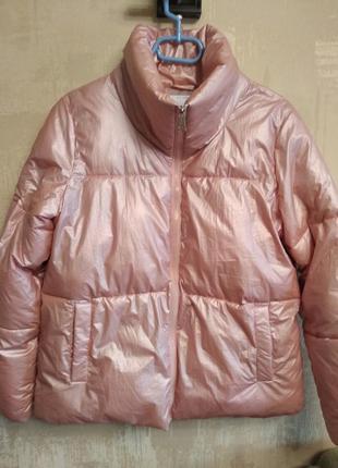 Куртка house р.м зимняя перламутровая пуфер дутая пуховик