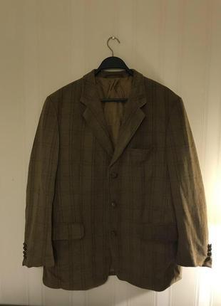 Шерстяной пиджак пальто блейзер в клетку как zara