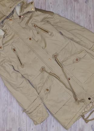 Теплая женская куртка парка tines s 42-44