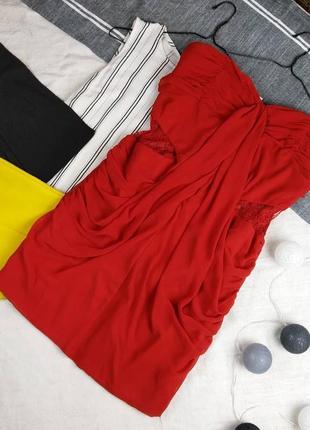 Платье бюстье чехол с драпировкой