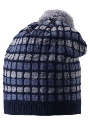 Шапка зимова з мериносової шерсті зима шапочка зимняя шерстяная тёплая