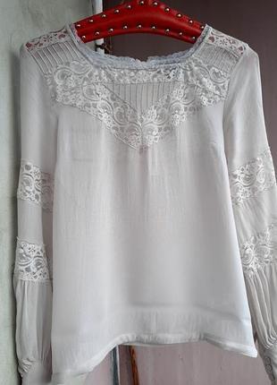 Полупрозрачная блуза topshop