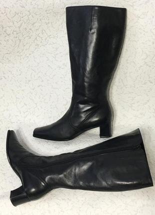 Шикарные австрийские кожаные сапоги с очень широким голенищем🔥