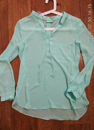 Шифоновая блузочка/ блузка/ мятного цвета