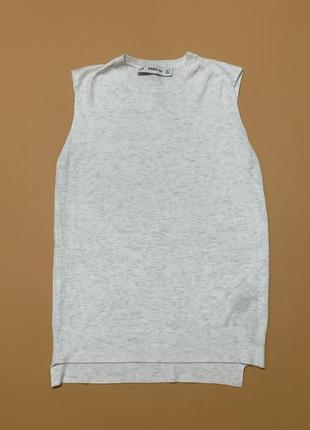 Базовая жилетка zara knit