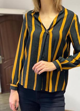 Стильная блуза в полоску f&f